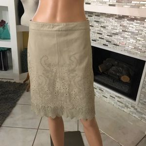 Tory Burch leather skirt size 6
